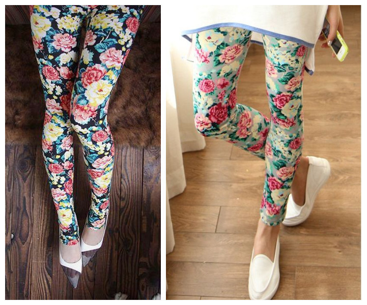 2014-spring-Autumn-New-Rose-Flower-Printed-Leggings-Fashion-Sexy-Women-Lady-Slim-Cotton-Pants-2