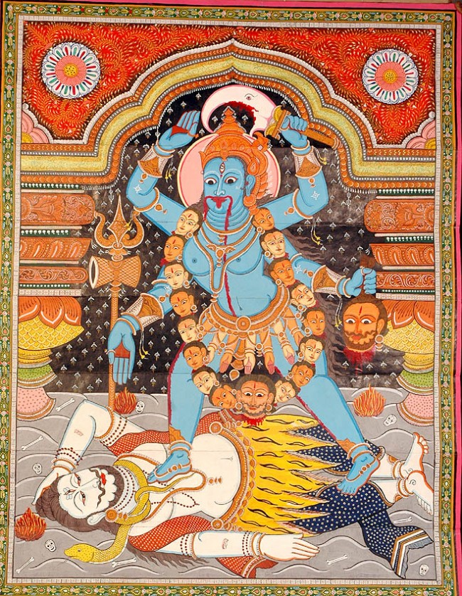 mother_goddess_kali_scroll_painting_pl89