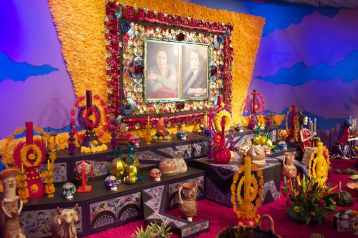 Altar dedicado para Dolores Olmedo at Ofrenda Museo Dolores Olmedo,