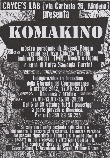 Fanzine Unkown Pleasures, numero zero, Komakino, grafiche Colette Baraldi