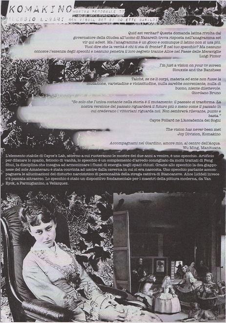 Fanzine Unkown Pleasures, numero zero, Komakino, grafiche Francesca De Paolis