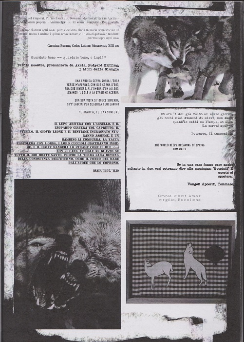 Fanzine Unknown Pleasures, numero 1, Lupus in Fabula, grafiche Valentina Mangieri, direz.art.LST.1