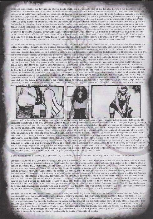 Fanzine Unkown Pleasures, numero uno, Mademoiselle Erzulie, grafiche Valentina Mangieri, direz. art. LST, 2