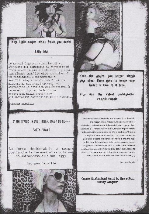 Fanzine Unkown Pleasures, numero uno, Mademoiselle Erzulie, grafiche Valentina Mangieri, direz. art. LST