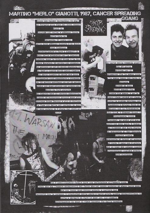 Fanzine Unknown Pleasures numero uno, Tu Quoque Punk - Merlo, grafiche Valentina Mangieri, direz.artistica LST.