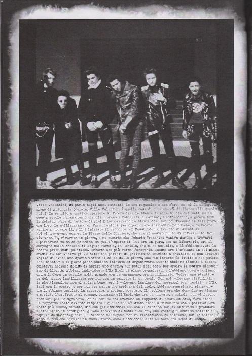 Fanzine Unknown Pleasures numero uno, Tu Quoque Punk - Tritone, grafiche Valentina Mangieri, direz.artistica LST.3