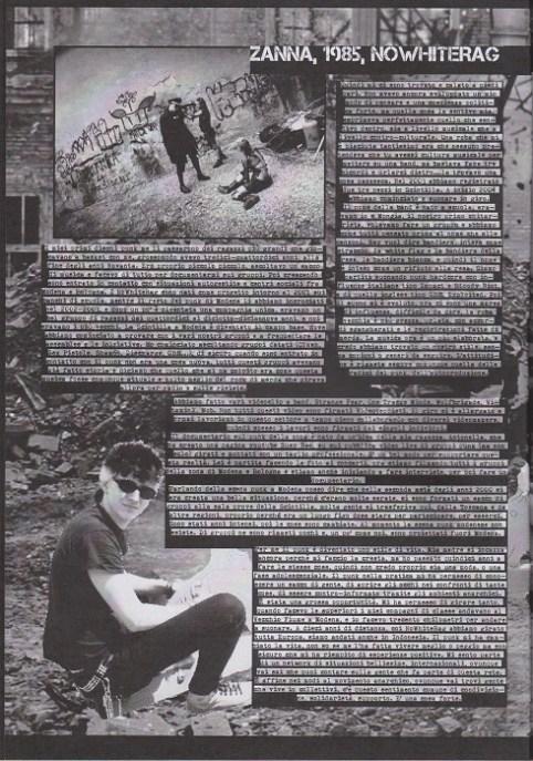 Fanzine Unknown Pleasures numero uno, Tu Quoque Punk - Zanna, grafiche Valentina Mangieri, direz.artistica LST