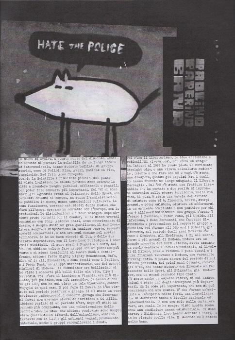 Fanzine Unknown Pleasures numero uno, Tu Quoque Punk - fox, grafiche Valentina Mangieri, direz.artistica LST