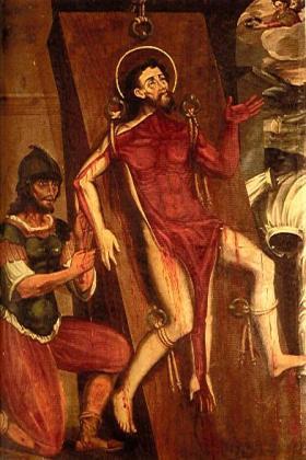 Anonimo, Martirio S. Bartolomeo, XVII sec., Iglesia de Santa Clara la Real, Bogotà