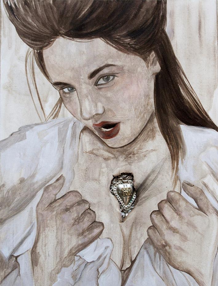 Martina Corradi, Vassilissa, tecnica mista su tela