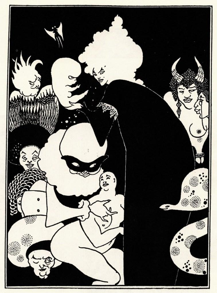 Aubrey Beardsley - Illustration for Lucian's 'True History' (1894)