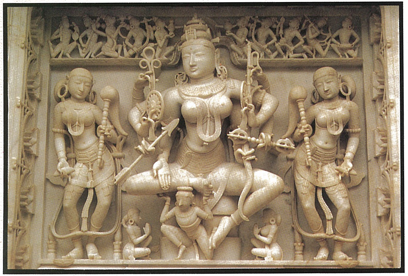 9-Devi-Marble-12th C. Vimal Vasahi Temple-Mt.Abu