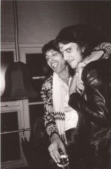 Freddie with Mick Rock