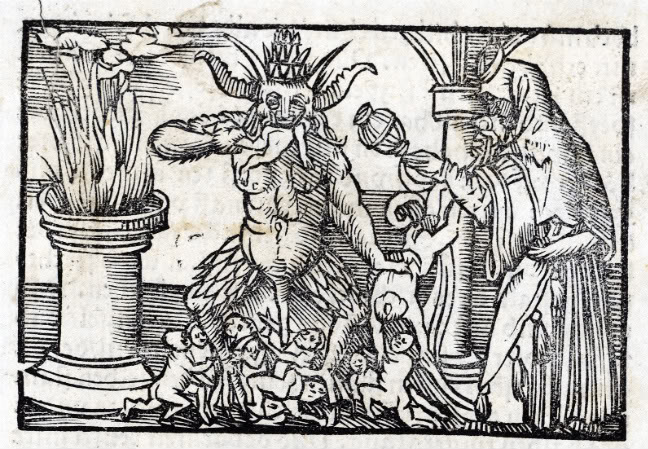 Devil, 14th century woodcut
