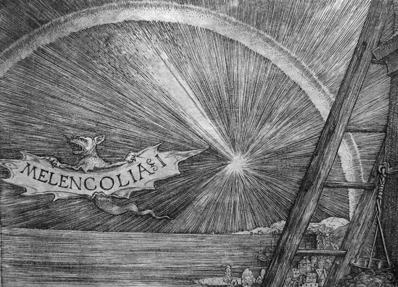 Durer, Melencolia, part., 1514