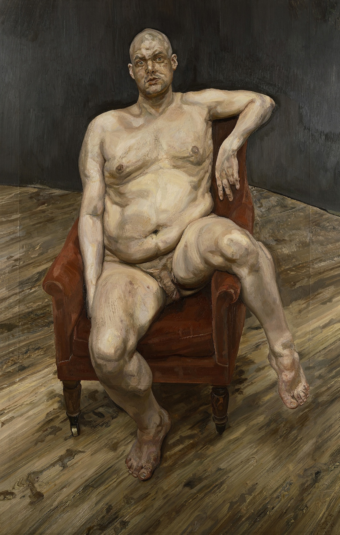 Lucian Freud, Leigh Bowery, 1990, oil on canvas