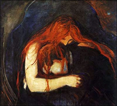 Edward Munch, Vampiro, 1893-94