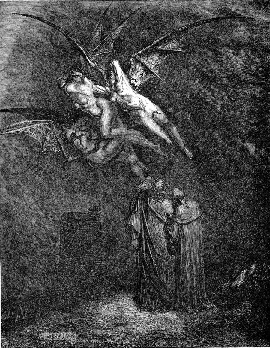 Gustave Doré, Inferno, Erinni, Canto IX