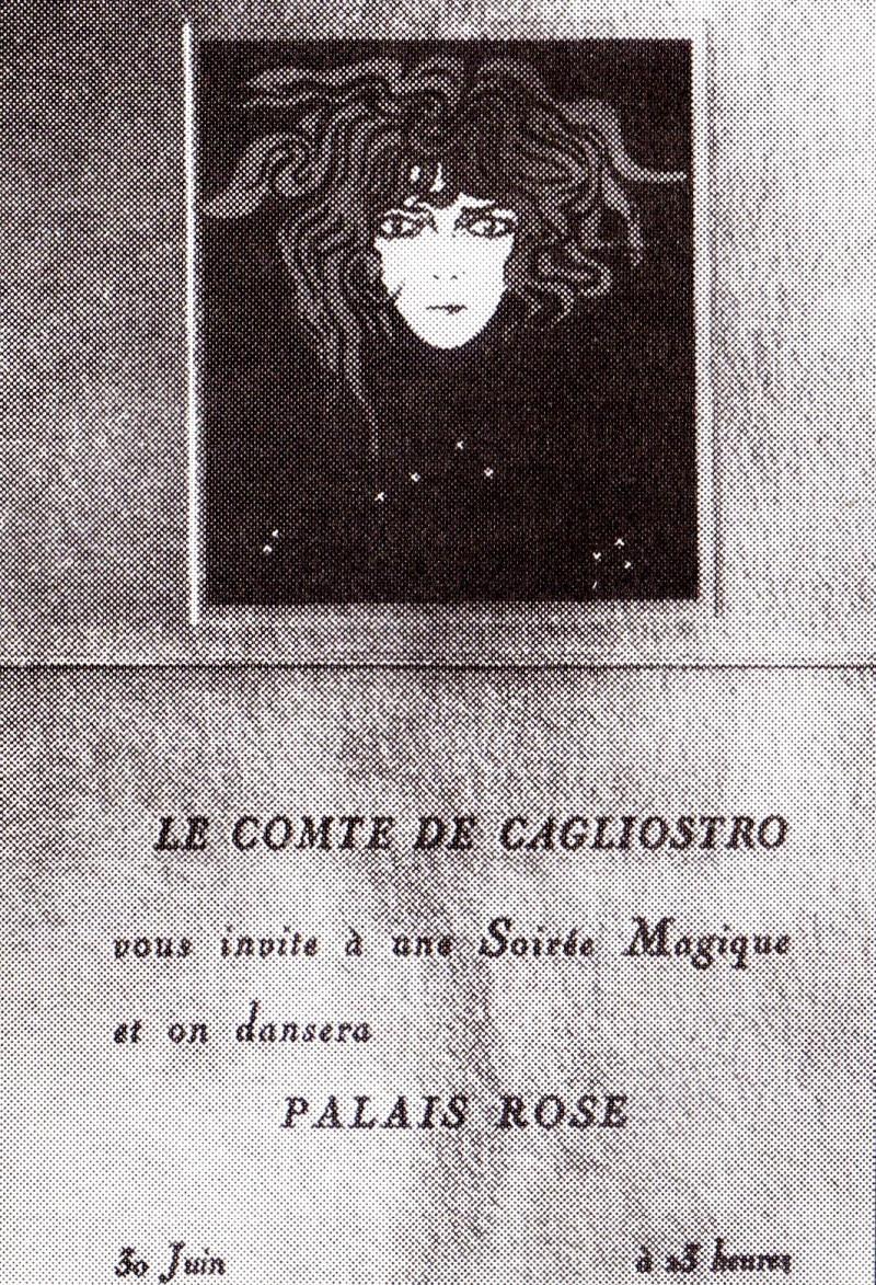 Invito al Ballo di Cagliostro, 1927