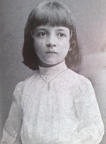 Luisa a cinque anni