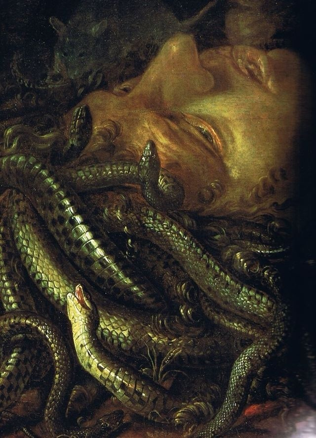Unknown flemish master, detail, Head of Medusa, 1600