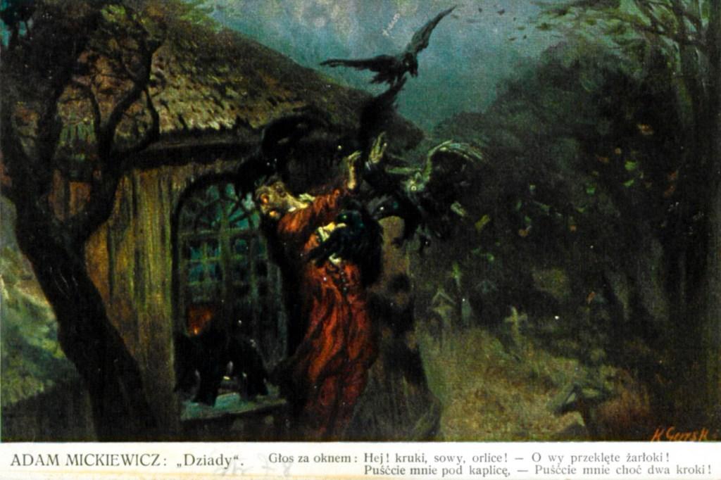 Dziady di Adam Mickiewicz, cartolina di Konstaty Gorski