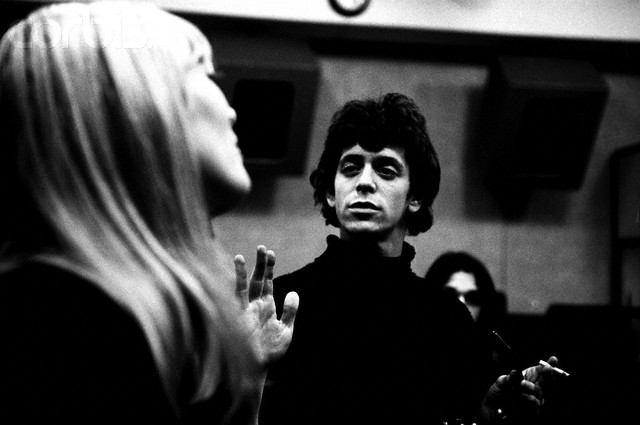 Nico and Lou Reed in Recording Studio, May, 1966, New York, New York, USA --- Nico and Lou Reed at Scepter Studios during the recording of the first Velvet Underground album --- Image by © Steve Schapiro/Corbis May, 1966, New York, New York, USA --- Nico and Lou Reed at Scepter Studios during the recording of the first Velvet Underground album --- Image by © Steve Schapiro/Corbis