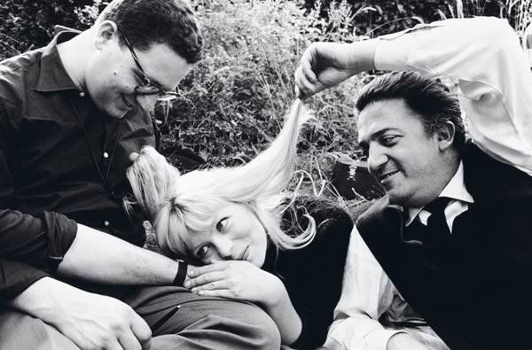 Ennio Guarnieri, Nico Otzak and Federico Fellini, pictured by Arturo Zavattini