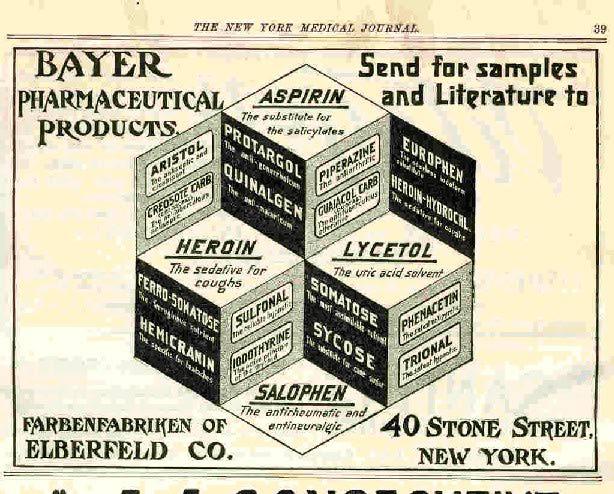 Bayerheroin eroina ed aspirina