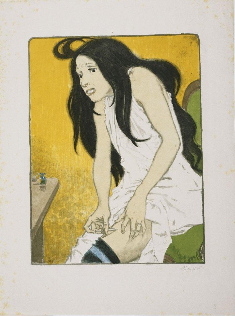 Eugène Grasset, Morphinomane (1897), Philadelphia Museum of Art, color lithograph, image 41.3 x 31.3cm.