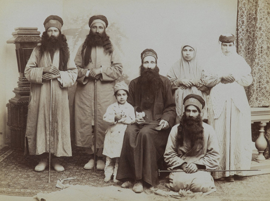 Family of Dervishes. Possibly Antoin Sevruguin (Armenian-Georgian, 1830s–1933). Iran, late 19th–early 20th century. Silver albumen photograph. Brooklyn Museum