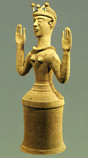 Poppy Goddess, ca. 1300-1250 BCE
