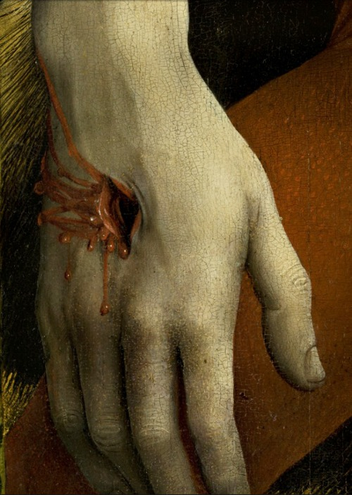 Van Der Weyden,The Descent from the Cross (detail) c. 1435