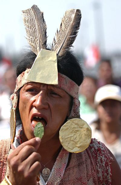 consumo rituale di foglie di coca, perù