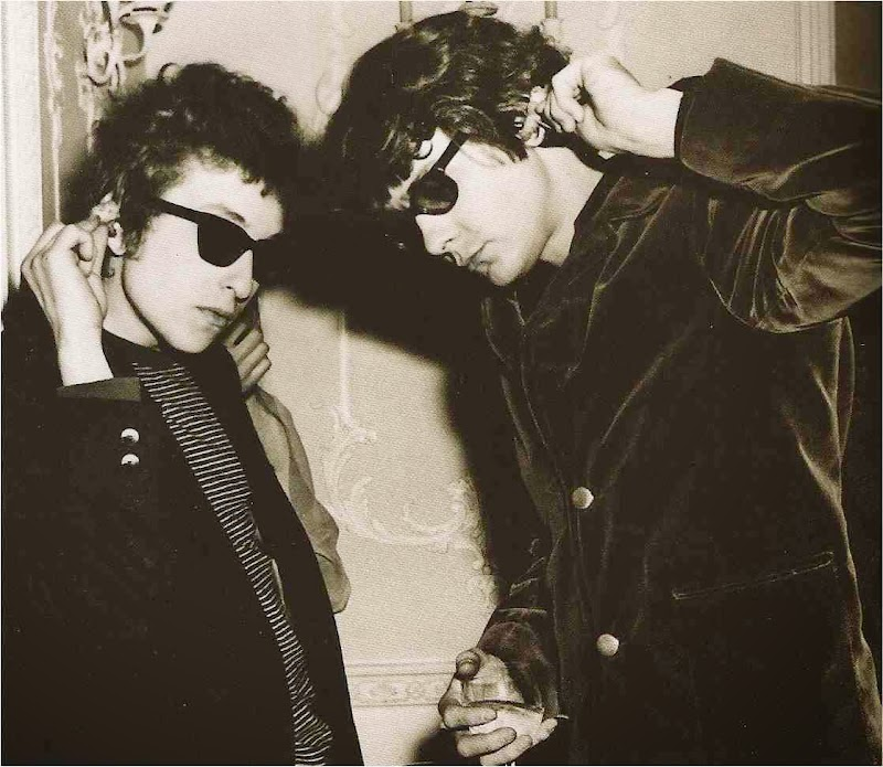 Bob Dylan and Bobby Neuwirth Backstage Don't Look Back Tour 1965