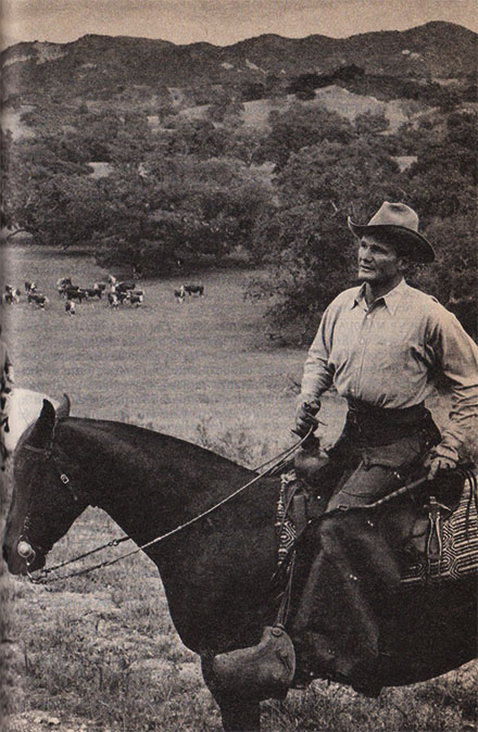 Francis Minturn Sedgwick a cavallo nel suo ranch
