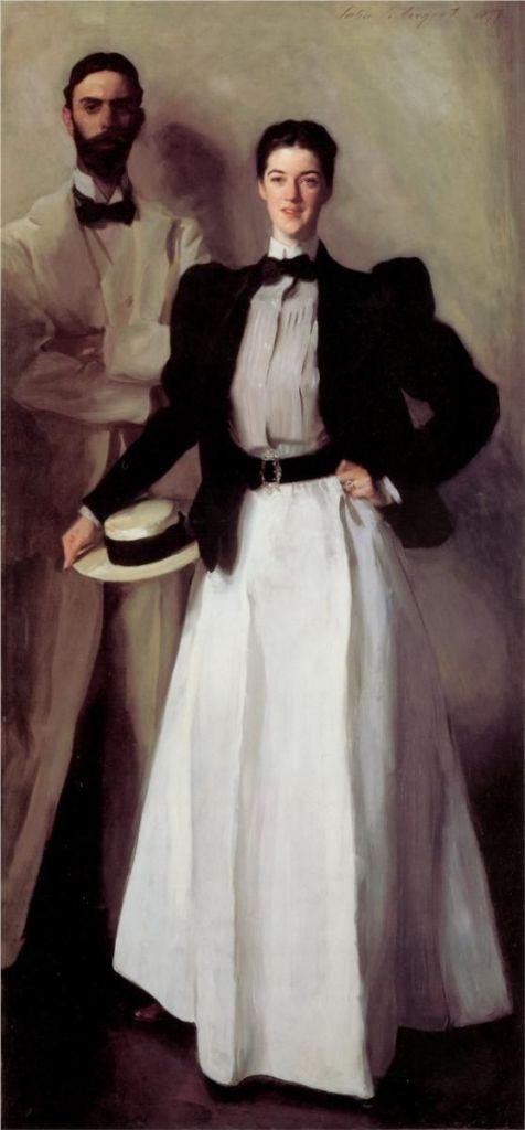 antenati di edie sedgwick John Singer Sargent, Mr. and Mrs. Isaac Newton Phelps Stokes, 1897.