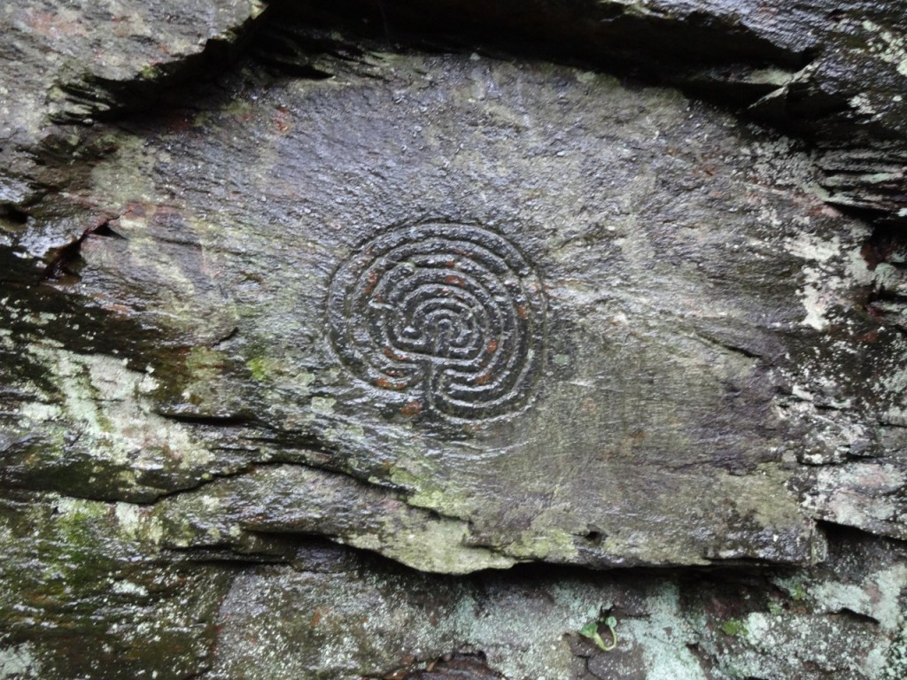 Celtic Labyrinth - The Rocky Valley, Tintagel, North Cornw