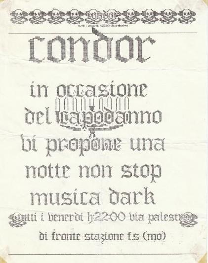 flyer da quelli che andavano al vecchio condor
