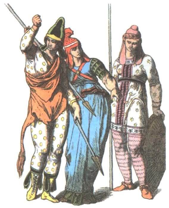 19th Century depiction of Scythian female warriors