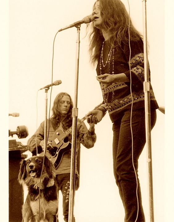 janis-james-gurley-and-a-dog-on-stage