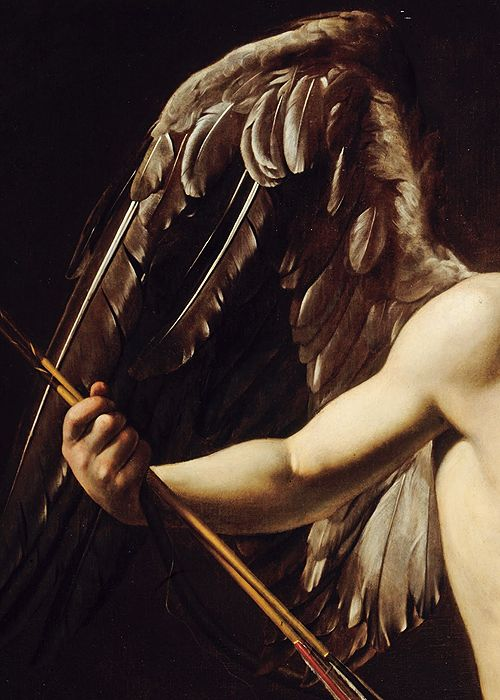 Caravaggio, Cupid as Victor (detail), ca. 1601