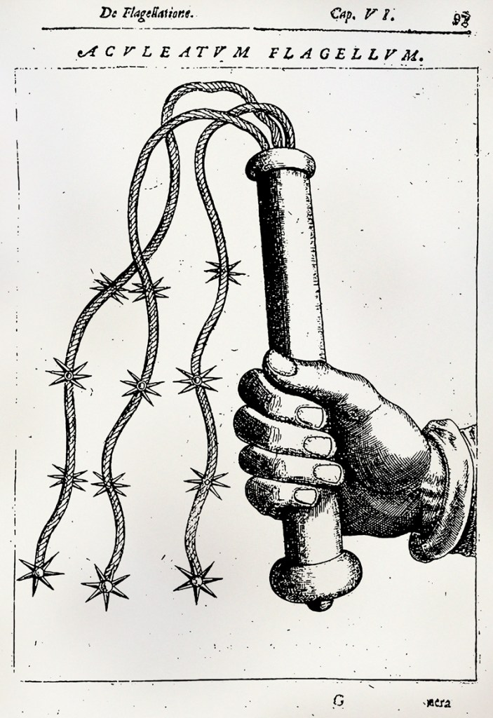 Daniel Mallonius, Historia admiranda de Iesv Christi stigmatibvs, cap. V, De Flagellatione, 1616.