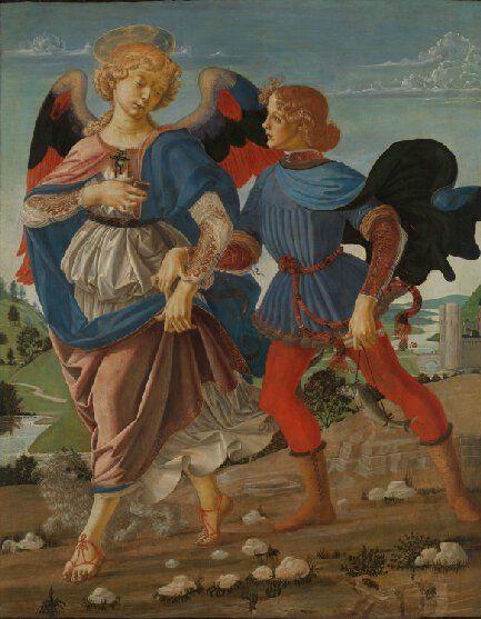 andrea del verrocchio tobia e l'angelo 1470 national gallery londra