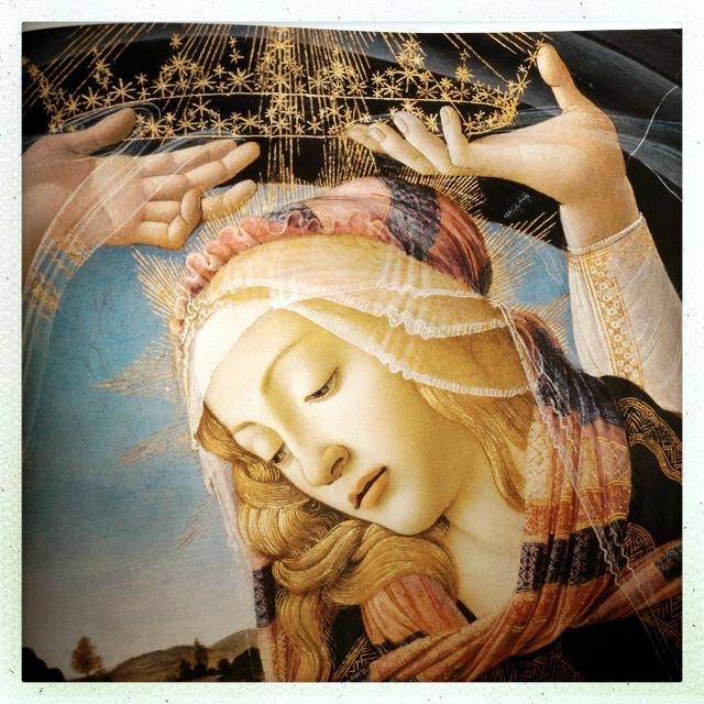 botticelli madonna del magnificat dett