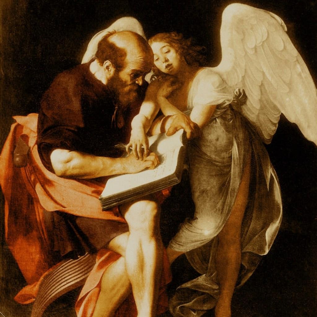 caravaggio san matteo e l'angelo rifiutato