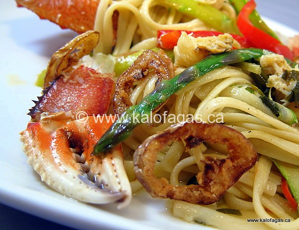 Crab Linguine With Lemon & Asparagus