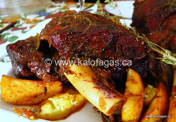 Slow-Roasted Leg of Lamb (The Greek Way)