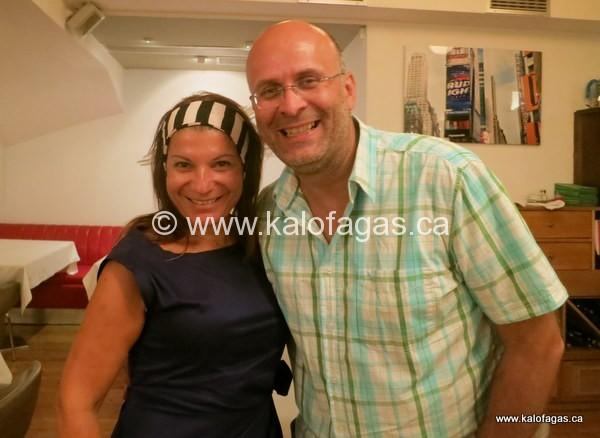 with Argiro Barbarigou at Papadakis restaurant