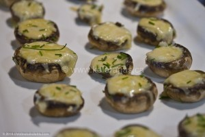 Baked Mushrooms Stuffed With Kefalotyri Cheese